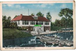 Carte Postale Ancienne De NEW YORK CITY – BOAT HOUSE, BRONX PARK - Bronx