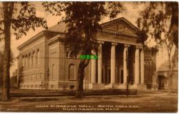 Carte Postale Ancienne De NORTHAMPTON – JOHN M. GREENE HALL, SMITH COLLEGE - Northampton