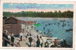 Carte Postale Ancienne De SPRINGFIELD – WATERSHOP SWIMMING POND - Springfield