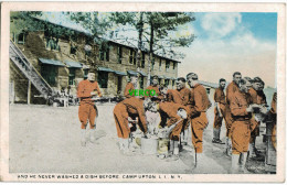 Carte Postale Ancienne De NEW YORK CITY – AND HE NEVER WASHED A DISH BEFORE – CAMP UPTON - Long Island