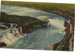 Carte Postale Ancienne De AERIAL VIEW OF NIAGARA FALLS AT LEFT, AMERICAN FALLS, NIAGARA FALLS, NY - NY - New York