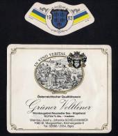 # GRUNER VELTLINER 1983 SCHEUHAMMER St.MARGARETHEN AUSTRIA  Wine Label Wein Vino Vin Etiquette Etiqueta Etikett - Etiketten