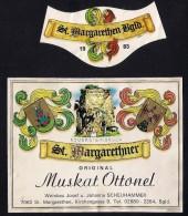 # MUSKAT OTTONEL 1983 SCHEUHAMMER St.MARGARETHEN AUSTRIA  Wine Label Wein Vino Vin Etiquette Etiqueta Etikett - Etiketten
