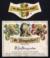 # WEISSBURGUNDER 1983 SCHEUHAMMER St.MARGARETHEN AUSTRIA  Wine Label Wein Vino Vin Etiquette Etiqueta Etikett - Etiketten