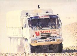 CAMION POIDS LOURD : 9 ème RALLYE Paris Alger Dakar - Assistance TEAM ECUREUIL MICHELIN (Lorry Truck Lkw Caminhão ) - Camion, Tir