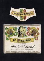 # MUSKAT OTTONEL 1981 SCHEUHAMMER St.MARGARETHEN AUSTRIA  Wine Label Wein Vino Vin Etiquette Etiqueta Etikett - Etiketten