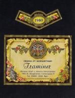 # TRAMINER 1980 SCHEUHAMMER St.MARGARETHEN AUSTRIA  Wine Label Wein Vino Vin Etiquette Etiqueta Etikett - Etiketten
