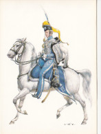 Königreich Schweden 1835 Leibgarde Zu Pferde Offizier - Uniforms
