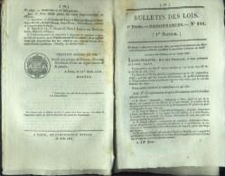 Bulletin Des Lois N°244 - Du 13 Août 1833 - Brevets D'invention - - Décrets & Lois