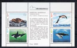 PORTUGAL 1983. ANIMALES MARINOS AMENZADOS DE LA COSTA PORTUGUESA .AFINSA Nº BLOCO 60.NUEVO SIN CHARNELA .SES33GRANDE - 1910-... República