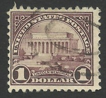 United States, 1 $. 1923, Sc # 571, Mi # 283, Used. - Etats-Unis