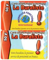 CARTES PREPAYEES LA BURALISTE 50 F  (lot De 2) 0771 - Autres Prépayées