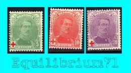 129/131* - Au Profit De La Croix-Rouge / Ten Voordele Van Het Rode Kruis - BELGIQUE / BELGIË - 1914-1915 Red Cross