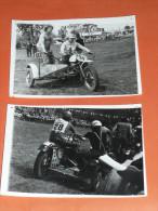 Lot  De 2 Anciennes Photos, Sport, Course De Side-car, Moto, Moto-cross Motos - Sports