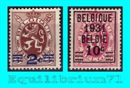 315/316* - BELGIQUE - Unused Stamps