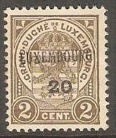 Luxembourg 1920 Prifix 120 Vette Plakker - Luxembourg