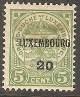 Luxembourg 1920 Prifix 122 Vette Plakker - Luxembourg