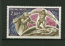 "MONACO  1968     N° 763    ""Bicentenaire Naissance Francois René Vicomte De Chateaubriand ( Atala ) ""       NEUF - Monaco"