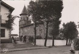Cpsm Grand Format  -Ainhoa église Et Route Vers Sare  - Scan Recto-verso - Ainhoa
