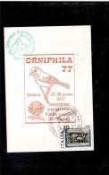 TEM5507  -     GENOVA  22.1.1977   /   25°  CAMP. MOND. DI ORNITOLOGIA - Vogels
