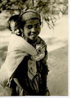 Maroc : Jeune Fille Du Rif Marocain - Visage Photographique Du Maroc N°182 (enfant Sur Le Dos) - Morocco