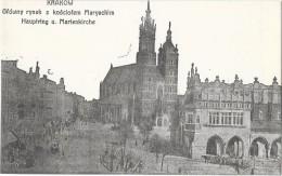 KRAKOW CRACOVIE (Pologne) Place église - Pologne