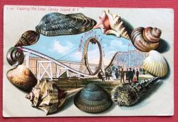 CONCHIGLIE - LOOPING THE  LOOP  CONEY ISLAND  N.Y. - CARTOLINA DA NEW YORK  - 1914 - Cartoline