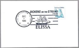 "DICKENS OF THE STRAND - VELERO ""ELISSA"" - Sailing Ship ""Elissa"". Galveston TX 1986 - Ships"