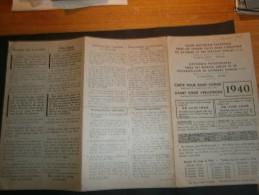 Congés Payés Industrie Bâtiment Et Travaux Publics - CARTE BONS CONGE 1940 - + ACCUSE DE RECEPTION - Documents Historiques