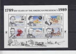 DOMINICA 1989 - Yvert BF 157 - UPU e Presidenti America