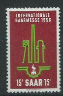 Saar 1956 Nuovo** - Mi.368 - 1947-56 Occupazione Alleata