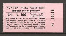 Biglietto tram autobus PESARO  AMANUP