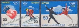 Japan - Japon 1971 Yvert 1038-40, Sapporo Winter Olympic Games - MNH - Neufs