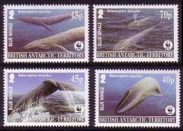 BAT WWF Blue Whale 4v SG#361/64 MI#353-56 SC#326-29 - British Antarctic Territory  (BAT)
