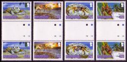 BIOT Crabs 4v Gutter Pairs SG#308/11 - British Indian Ocean Territory (BIOT)