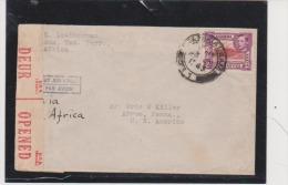 Uganda Tanganyika.Territory 1943 Censored Cover Via Africa To The United States - Kenya, Uganda & Tanganyika