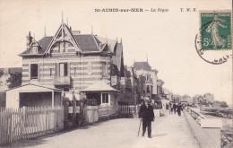CPA - 14 - SAINT AUBIN Sur MER - La Digue - Saint Aubin