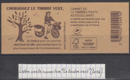 """Carnet De 12 TVP Ciappa Verts  Couverture """"Le Timbre Vert"""" (2014) - Carnets"""