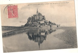 -  LE MONT SAINT MICHEL  Côté Sud  Vue Prise à L'est De La Digue Bien Timbrée Excellent état - Le Mont Saint Michel