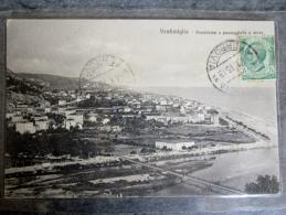 VENTIMIGLIA (VINTIMILLE) Italie Italia Panorama E Passeggiata A Mare Carte Plastifier - Other Cities