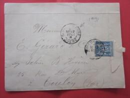 CAD 12 AOUT 1891 TYPE SAGE 15C LETTRE à ENTETE A. DREVON REPRESENTANT DE COMMERCE VIENNE ISERE-> TOULON Salins-D'Hyéres - Marcofilia (sobres)