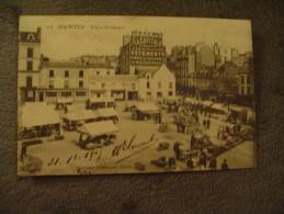 CPA Nantes Place Bretagne  Phototypie Vasselier  Marché Market 1905. - Nantes