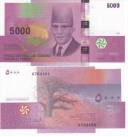 Comoros Comores - 5000 Francs 2014  Serie D AUNC Lemberg-Zp - Comores