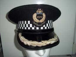 Casquette De La Police Mauricienne Collection Déco Rare - Casques & Coiffures