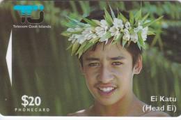 Cook Islands, COK4, $20, Ei Katu- Tiare Maori, Mint, 2 Scans. - Isole Cook