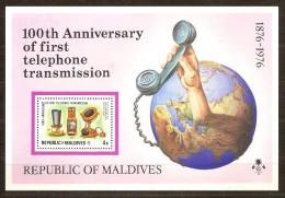 Maldives Malediven 1976 Yvertn° Bloc 36 *** MNH Cote 35 FF - Maldives (1965-...)