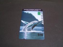 NORFOLK Telecom Whale Breaching; - Norfolk Island