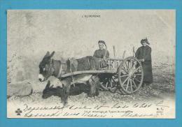 CPA 74 - Un Attelage Et Types Auvergnats - Charette Tirée Par Un âne - Ohne Zuordnung