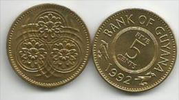 Guyana 5 Cents 1992. UNC - Guyana