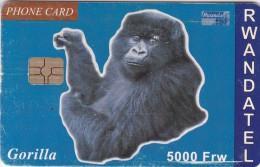 Rwanda, RWA-06, 5000 Frw, Gorilla, 2 Scans.  Please Read.